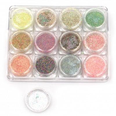 Пигмент захарен ефект в кутийка 30x15 мм -12 цвята