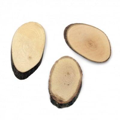 Елипса дърво 30x50x5 мм -10 броя