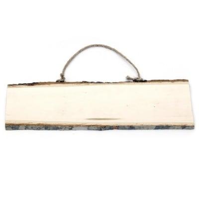 Табела дървена 280~300x80~100 мм пано въже