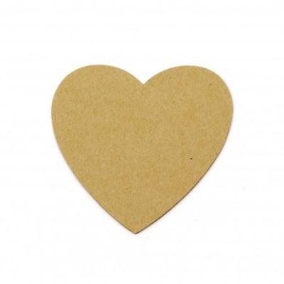 Сърце папие маше 10x10x1.5 мм -10 броя