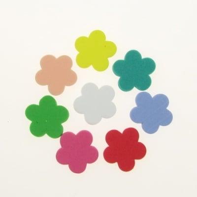 Цвете фоам /EVA материал/ 19x2 мм микс цветове -20 бр
