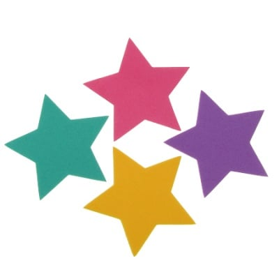 Звезда фоам /EVA материал/ 60x2 мм микс цветове -4 бр