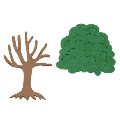 Фигурка дърво две части стъбло фоам/EVA материал/120x80 мм и корона филц 90x95 мм
