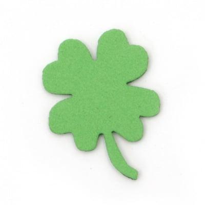 Детелина с дръжка фоам /EVA материал/ 33x2 мм зелена -20 броя