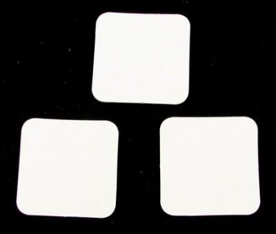 Таг за картичка от бирен картон 34x34 мм -10 бр