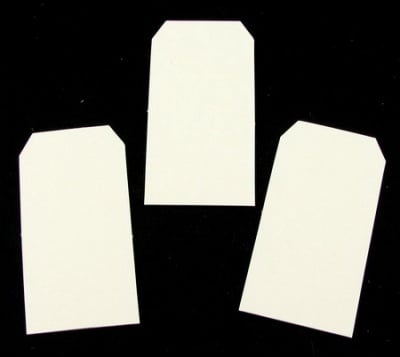 Таг за картичка от бирен картон 33x63 мм -5 бр
