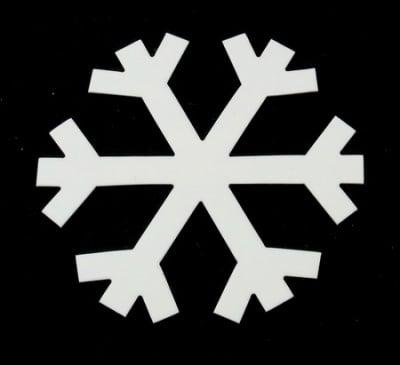 Снежинка бирен картон 96x1 мм -5 бр