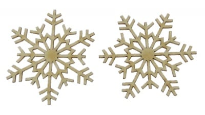 Снежинка от бирен картон 50x1мм -2 броя