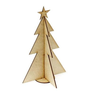 Фигурка кафява МДФ за декорация елха от 3 части 220x140x3 мм