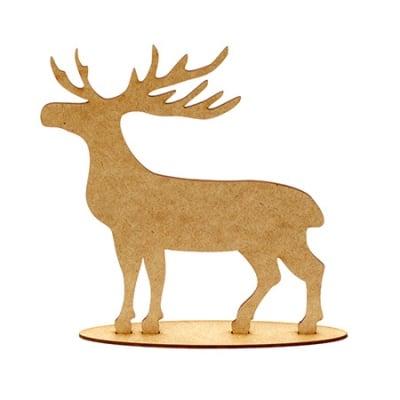 Фигурка кафява МДФ за декорация елен от 2 части 200x160x3 мм