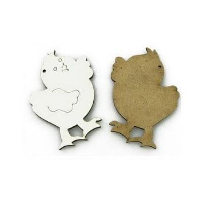 Фигурка бял МДФ за декорация пиле малко 55x70x3 мм -1 бр
