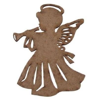 Фигурка кафява МДФ за декорация ангел 100x75x3 мм