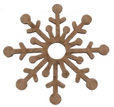Фигурка кафява МДФ за декорация снежинка 100x3 мм