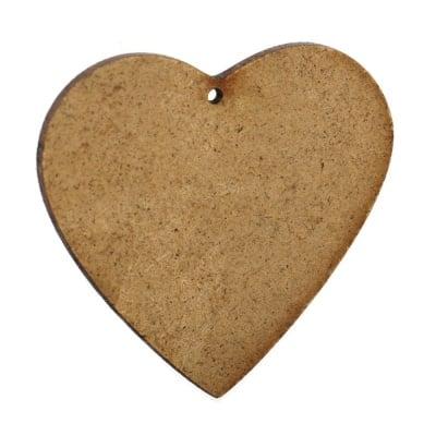 Фигурка кафява МДФ за декорация сърце 73x85x2 мм