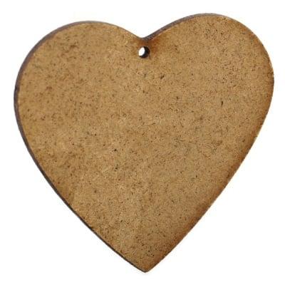 Фигурка кафява МДФ за декорация сърце 90x105x2 мм