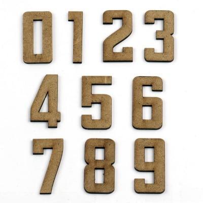 Фигурка кафява МДФ за декорация цифри 40x20x2 мм -от 0 до 9