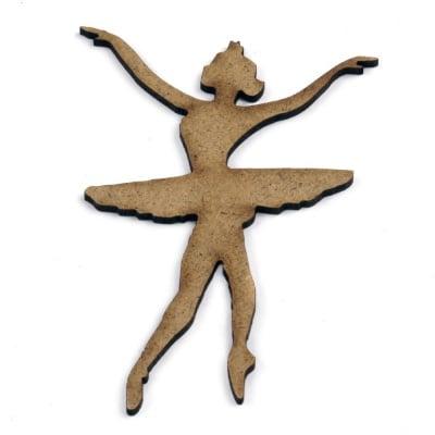 Фигурка кафява МДФ за декорация балерина 100x70x2 мм