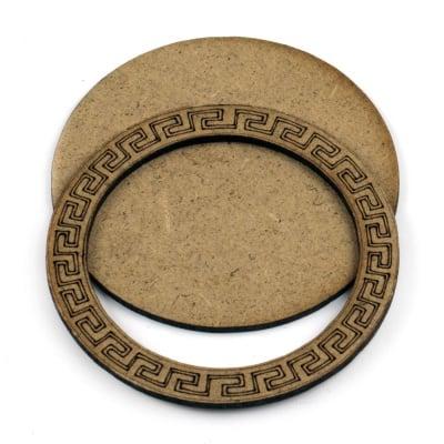 Фигурка кафява МДФ за декорация кръг 80x2 мм 2 части