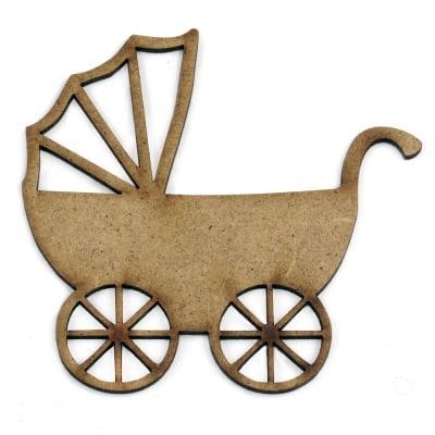 Фигурка кафява МДФ за декорация детска количка 100x100x2 мм