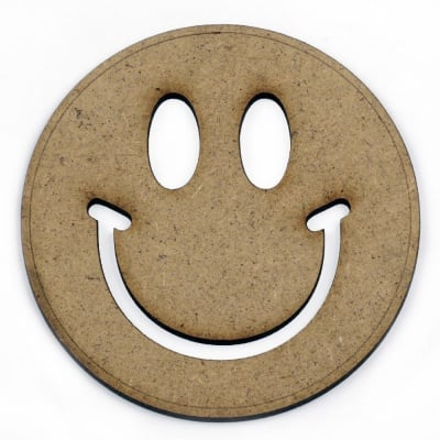 Фигурка кафява МДФ за декорация усмивка 100x2 мм
