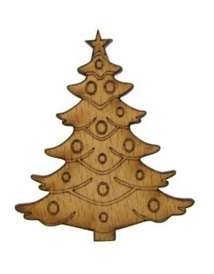 Фигурка дърво за декорация елха 68x4 мм -1 брой