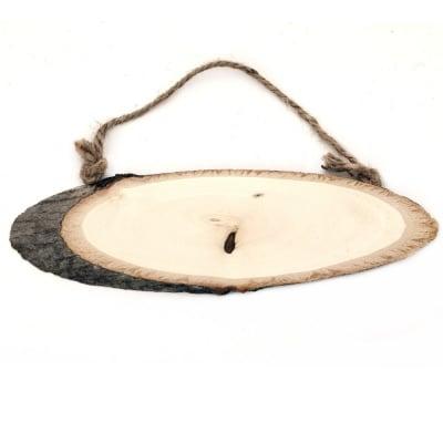 Елипса дървена 210х60 мм пано въже