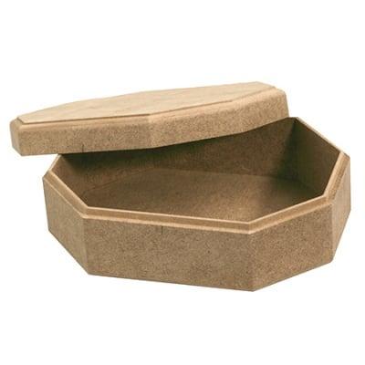 Кутия MDF за декорация осмоъгълна 15x20x7 см