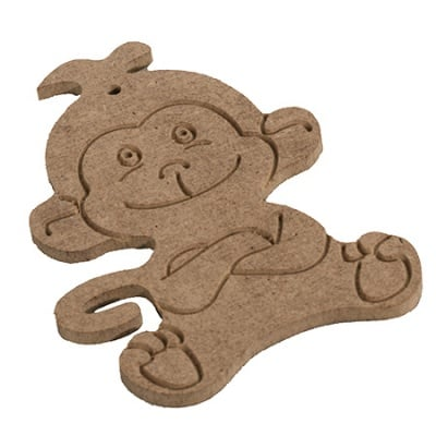 Фигурка MDF за декорация маймуна 8x10.5 см