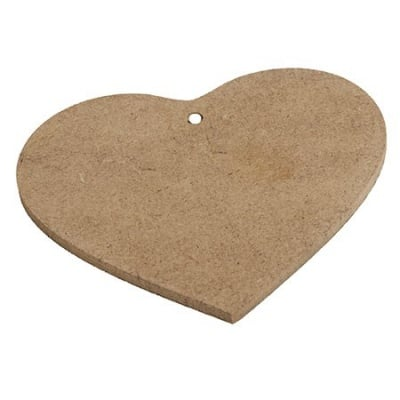Фигурка MDF за декорация сърце 10x10.5 см