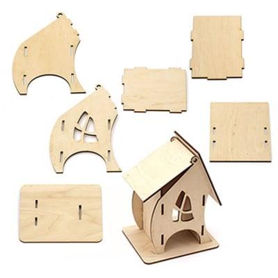 Дървена къщичка за чай 7x8x16 см