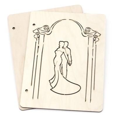 Дървени корици за скрапбук албум № А05 16x22x3 см
