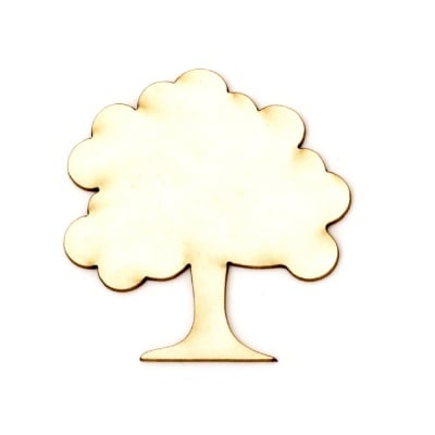Дърво от бирен картон 50x45x1 мм -2 броя