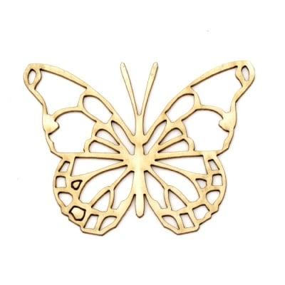 Пеперуда от бирен картон 50x65x1 мм -2 броя