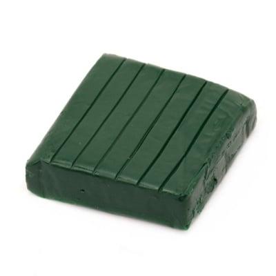 Полимерна глина зелена тъмно - 50 грама