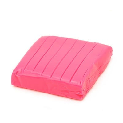 Полимерна глина неон розова тъмно - 50 грама