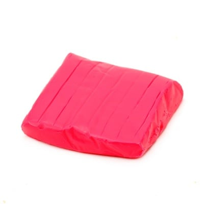 Полимерна глина неон червена - 50 грама