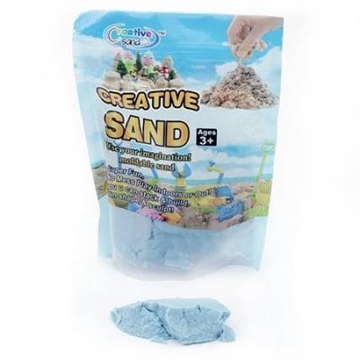 Цветен пясък за аранжиране и декорация цвят син - 500 грама