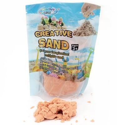 Цветен пясък за аранжиране и декорация цвят оранжев - 500 грама