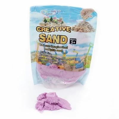 Цветен пясък за аранжиране и декорация цвят лилав - 500 грама