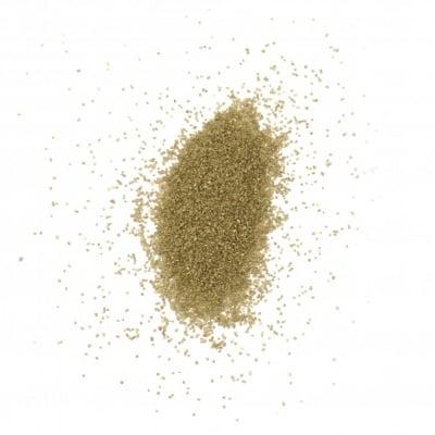 Стъклен пясък за декорация 0.2 мм 200 микрона цвят злато ~380 грама