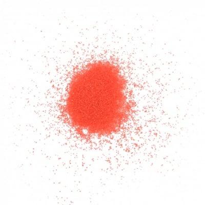 Стъклен пясък за декорация 0.2 мм 200 микрона цвят червен ~410 грама