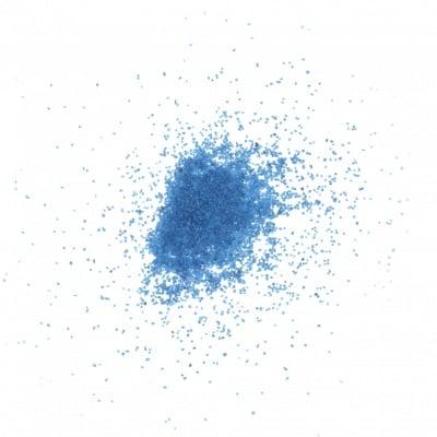 Стъклен пясък за декорация 0.2 мм 200 микрона цвят син тъмен ~410 грама