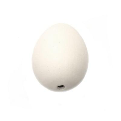 Яйце керамика бяла 48x60 мм с една дупка 6 мм