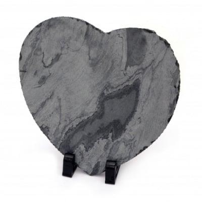 Рамка стъкло за сублимационен печат сърце 19.5x20 см