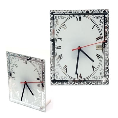 Часовник стъкло за сублимационен печат 17.7x23 см