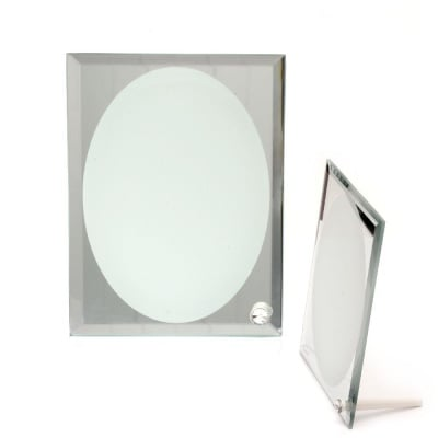 Рамка стъкло за сублимационен печат 14.9x19.5 см за снимка 12.8x17.8 см с огледало