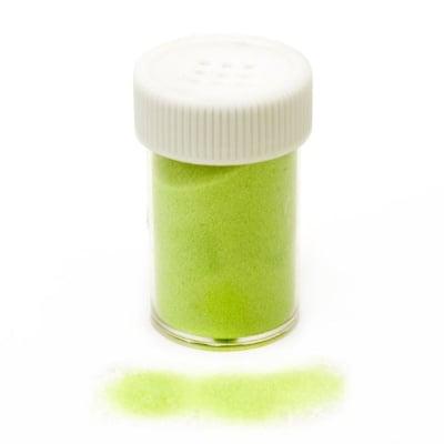 Ембосинг пудра в бурканче/солничка фина цвят зелен електрик -10~11 грама