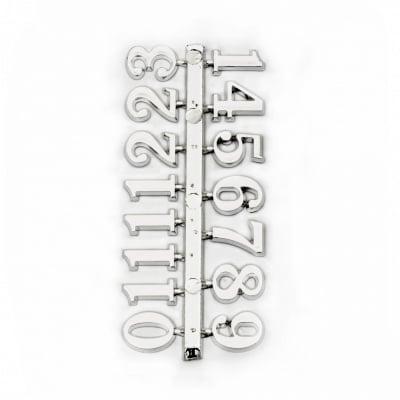 Комплект цифри за часовник 15 мм арабски - сребро