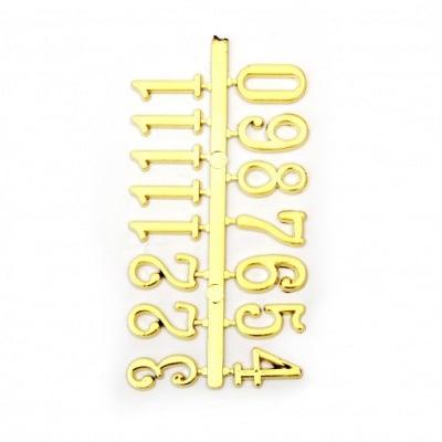 Комплект цифри за часовник 16 мм арабски - злато