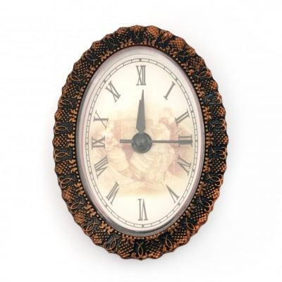 Часовник за вграждане 92x67x25 мм захранване ААА1.5 V (батерия) цвят мед